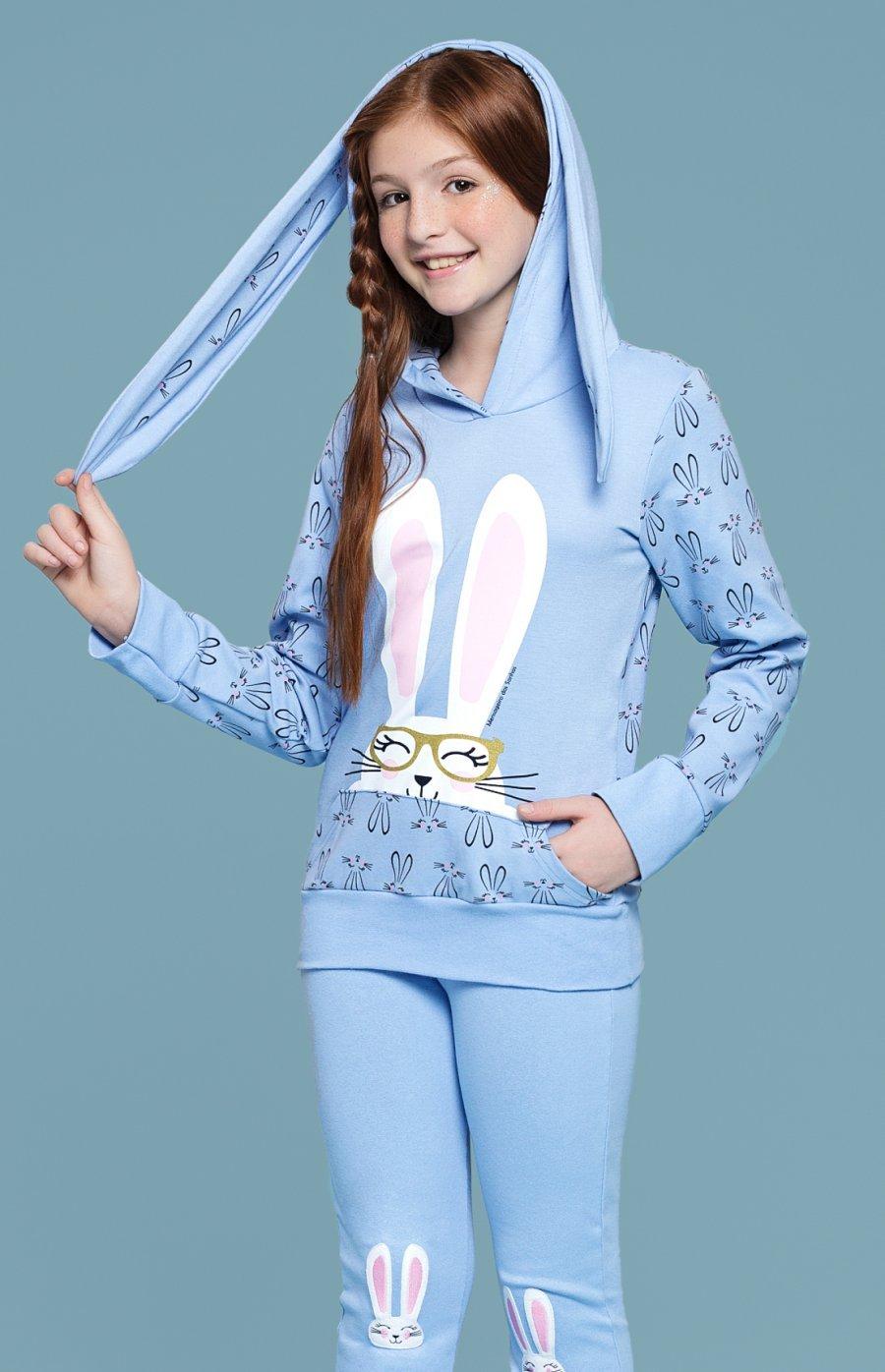Pijama Juvenil Legging Coelha PROMO Inverno 2018