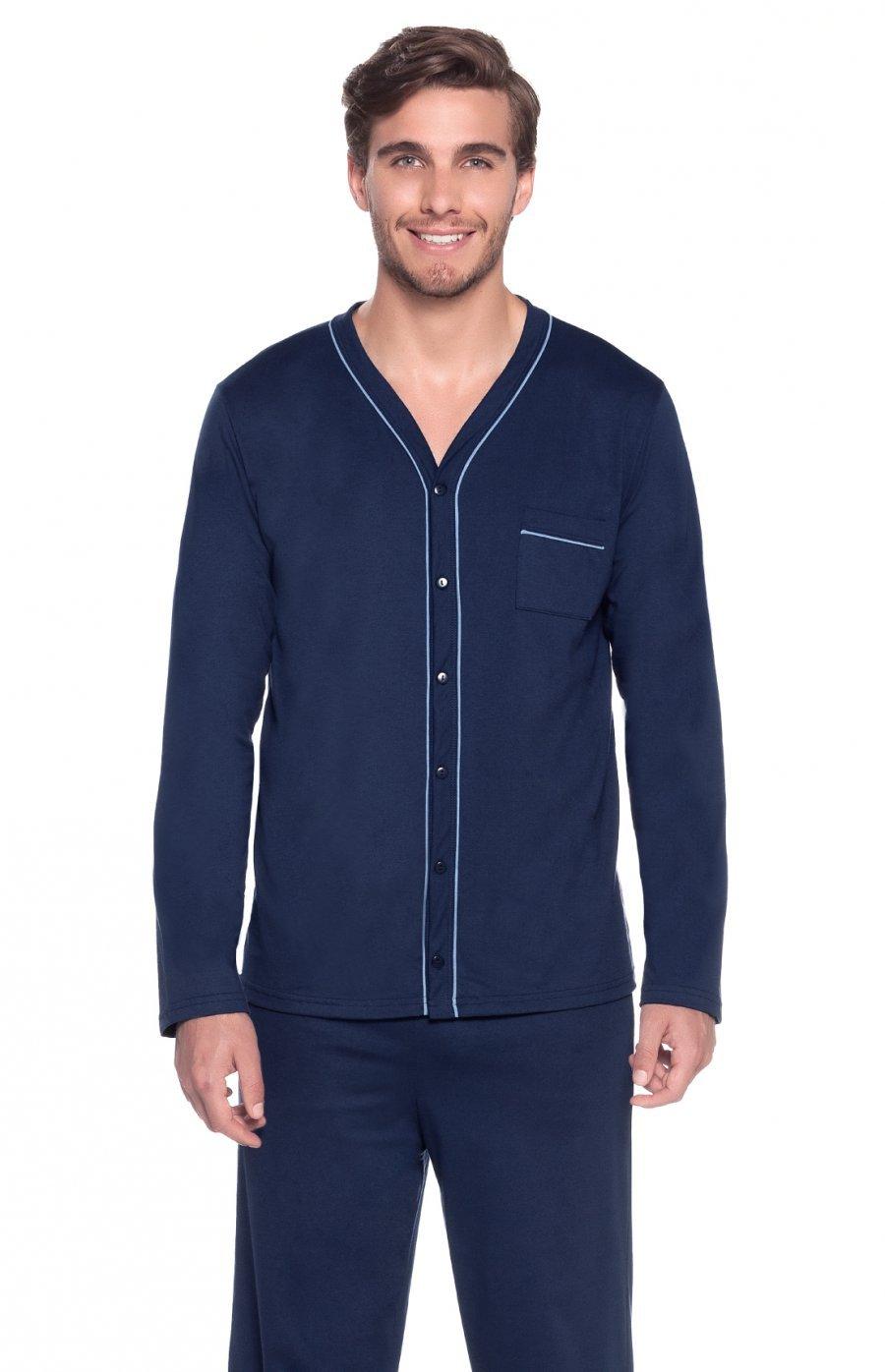 Pijama Masculino 100% Algodão Blue Inverno 2017