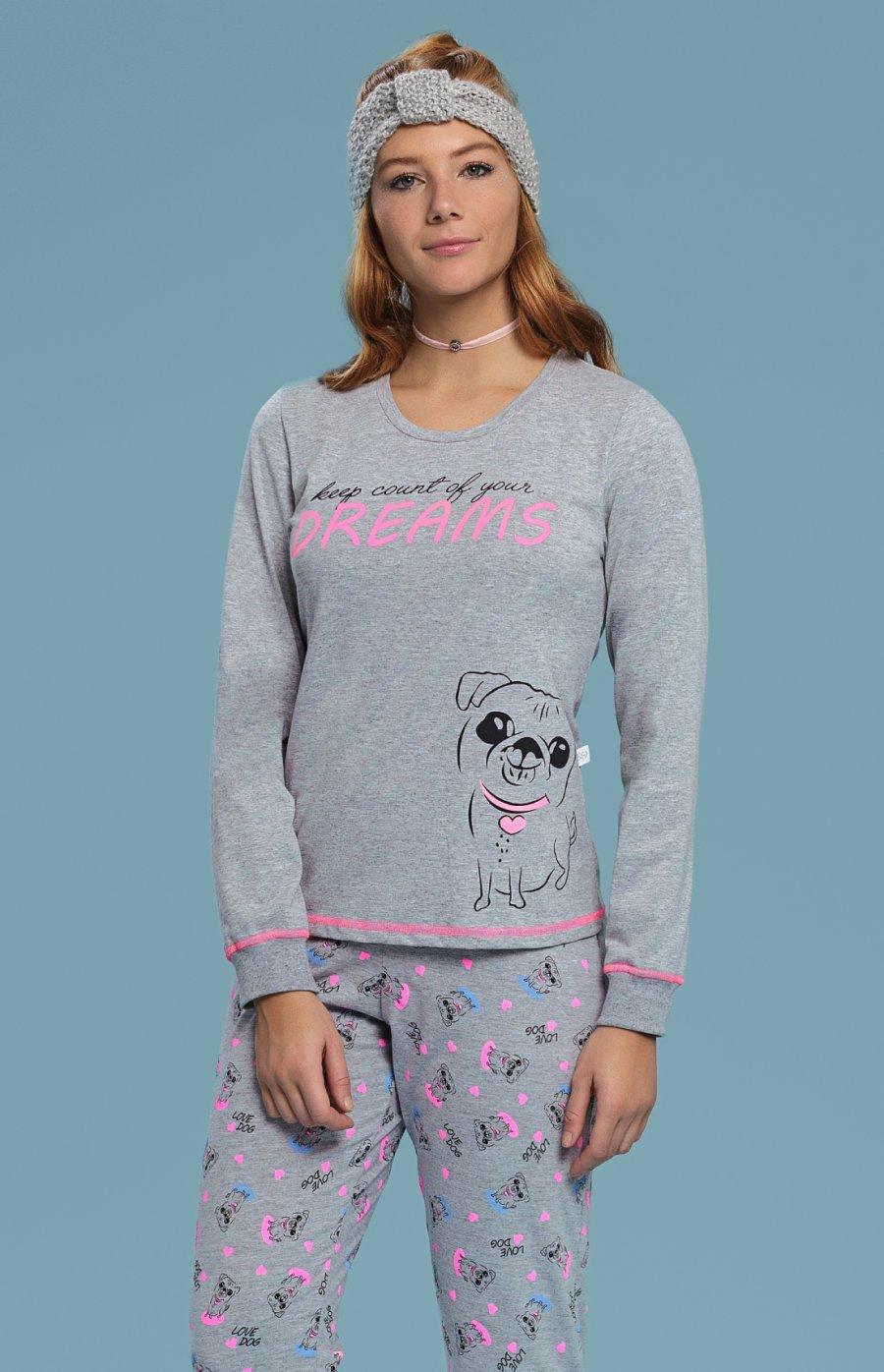 Pijama 1/2 Malha Silly Dog PROMO Inverno 2018