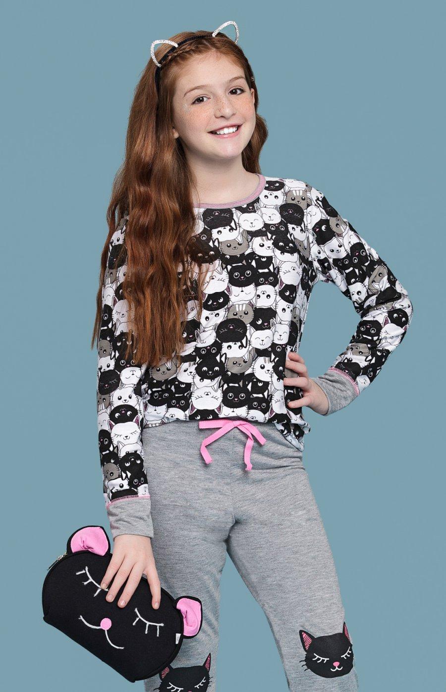 Pijama Infantil Moletinho Black Cat PROMO Inverno 2018