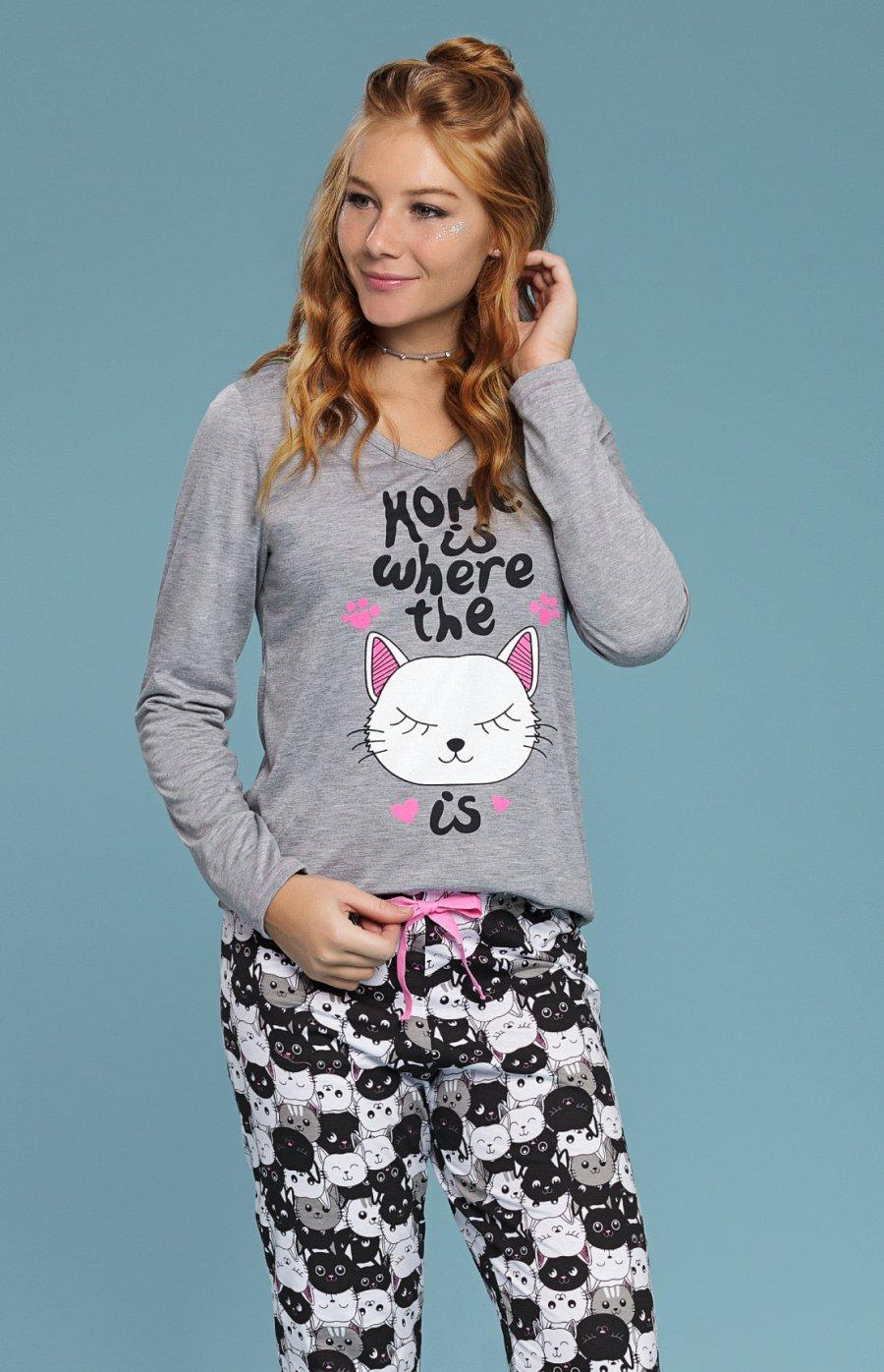 Pijama Plus Size 1/2 Malha Black Cat PROMO Inverno