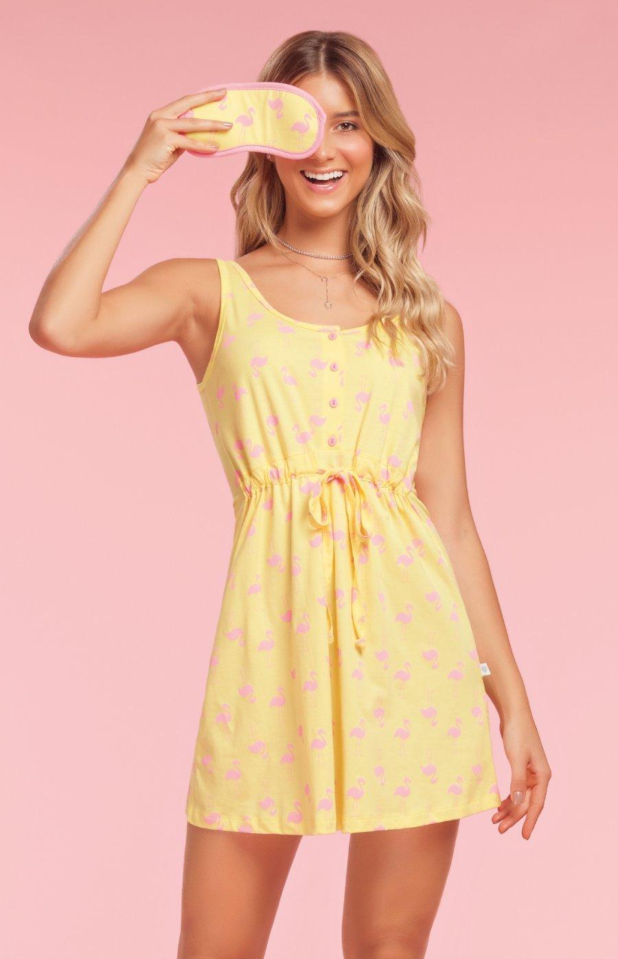 Camisola 100% Algodão Plus Size Flaminguetes Verão 2019
