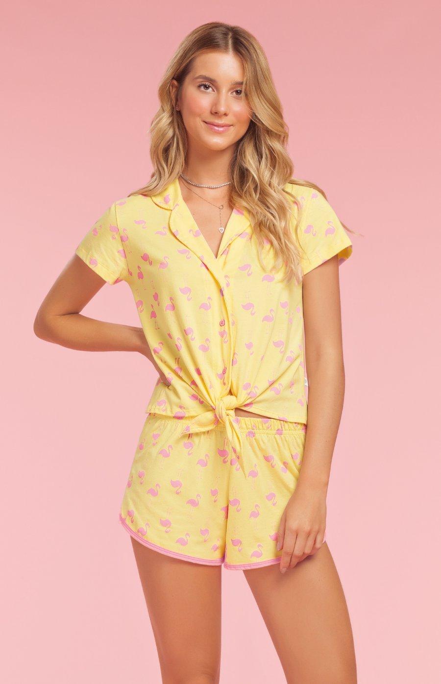 Short Doll 100% Algodão Flaminguetes Verão 2019