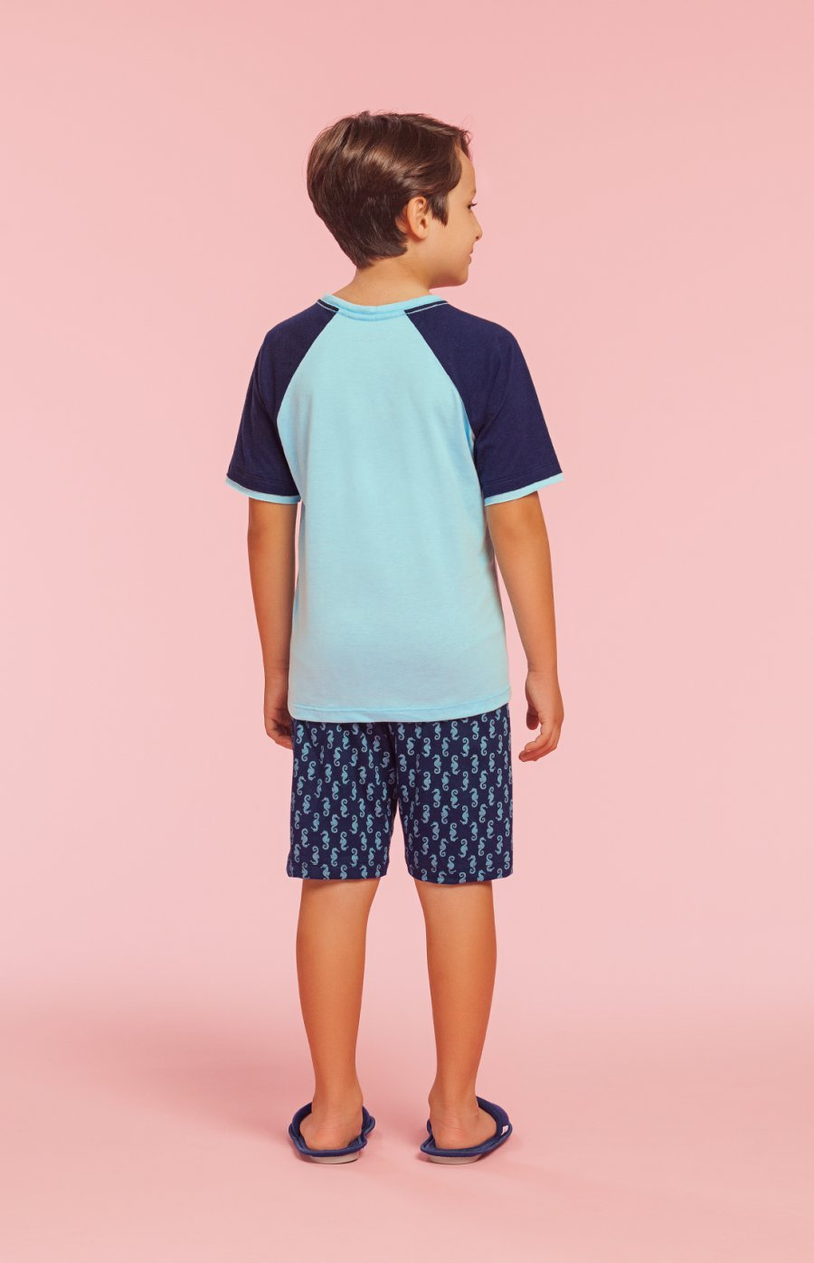 Pijama Infantil Masculino 100% Algodão Surfer Dino Verão 2019