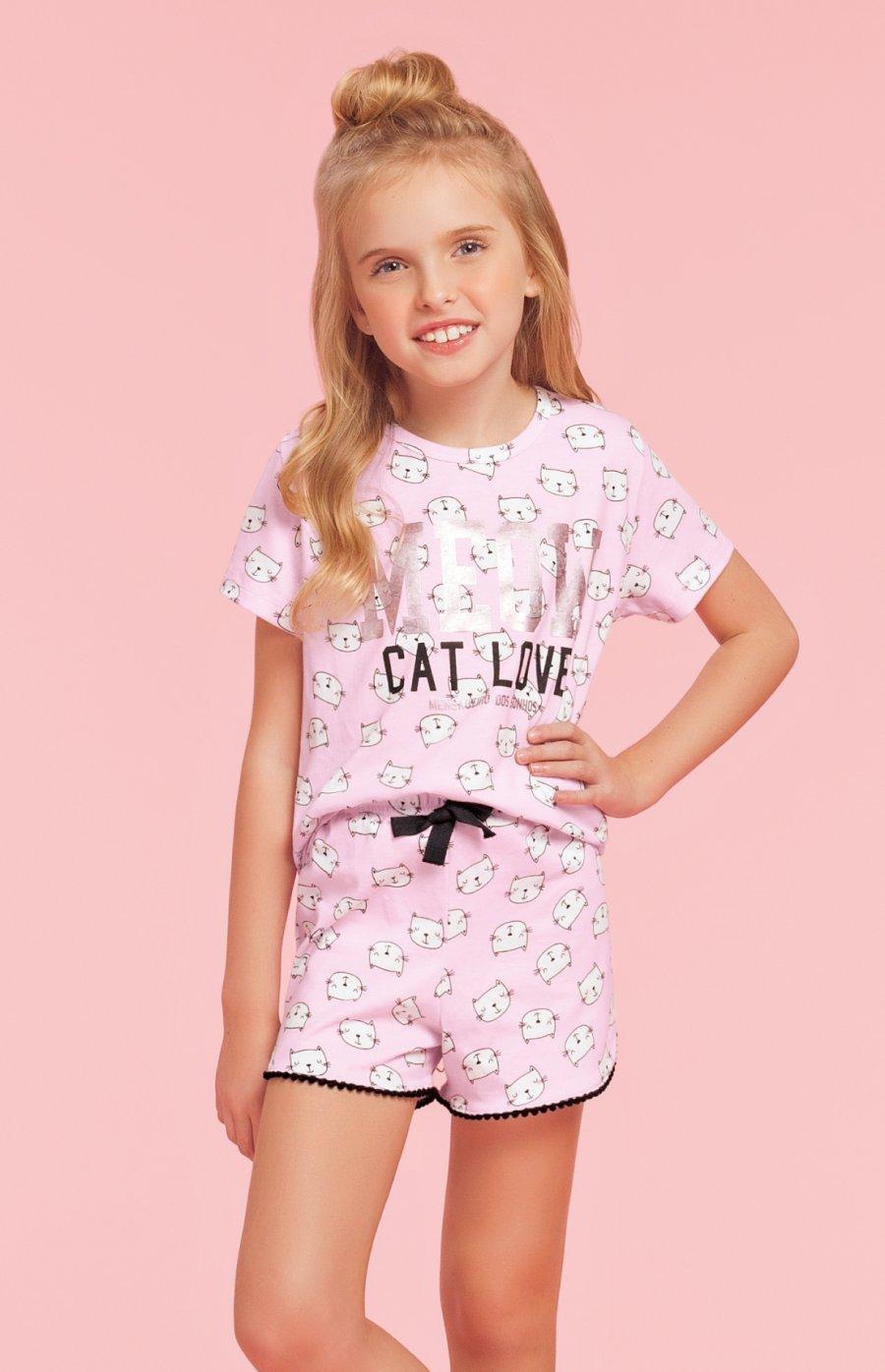 Short Doll Infantil 100% Algodão Cats Verão 2019