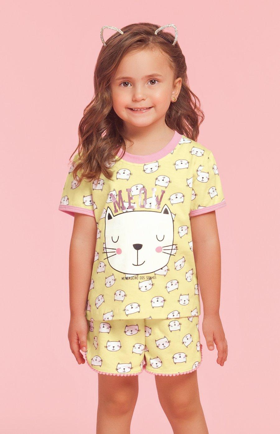 Pijama Baby 100% Algodão Cats Verão PROMO 2019