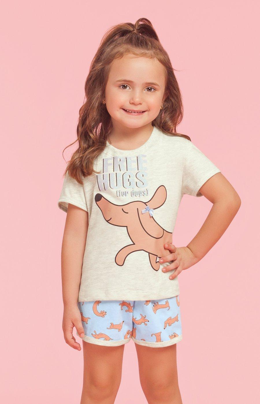 Pijama Baby 1/2 Malha Hugs Verão 2019