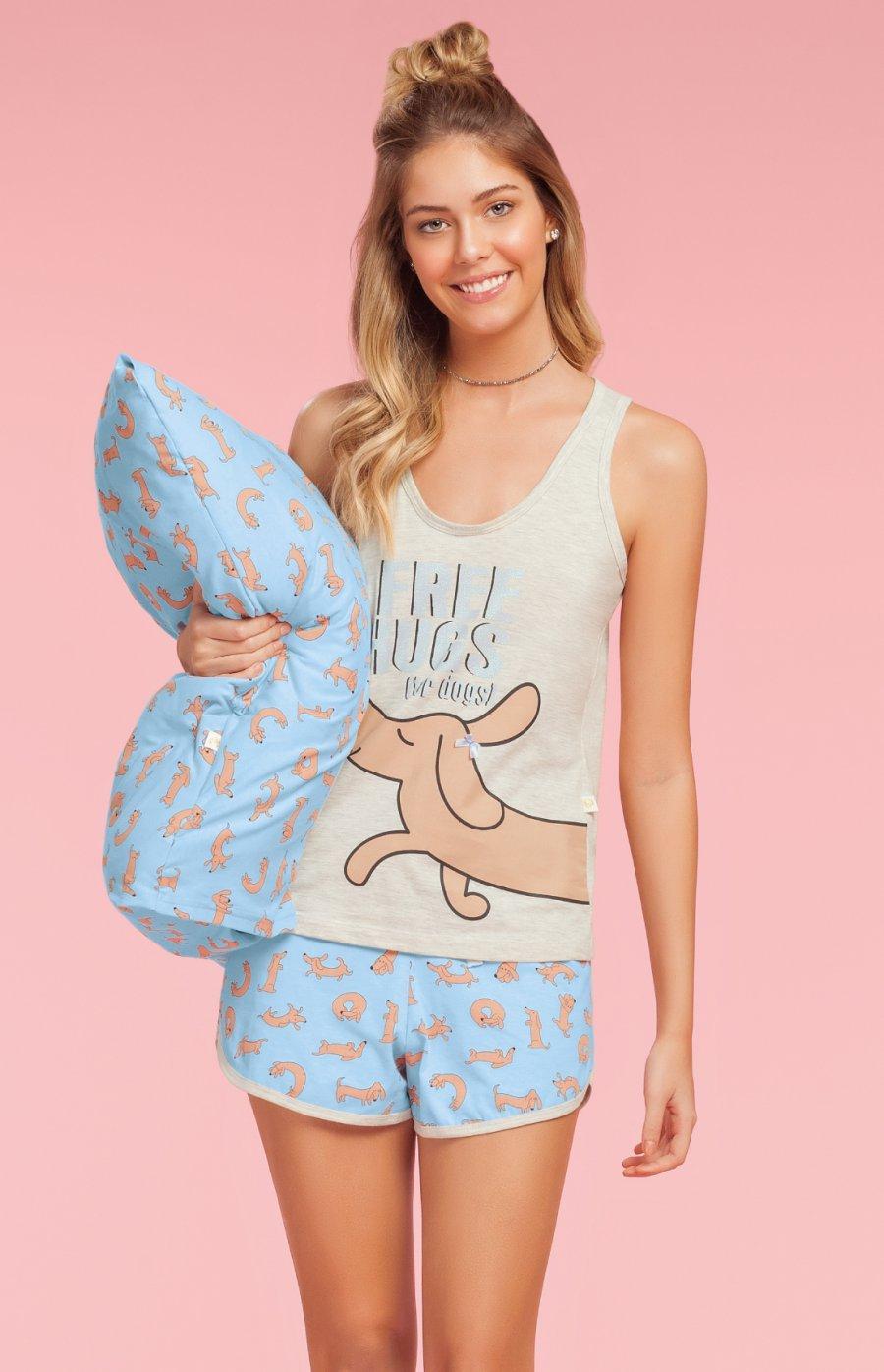 Short Doll Plus Size 1/2 Malha Hugs Verão 2019