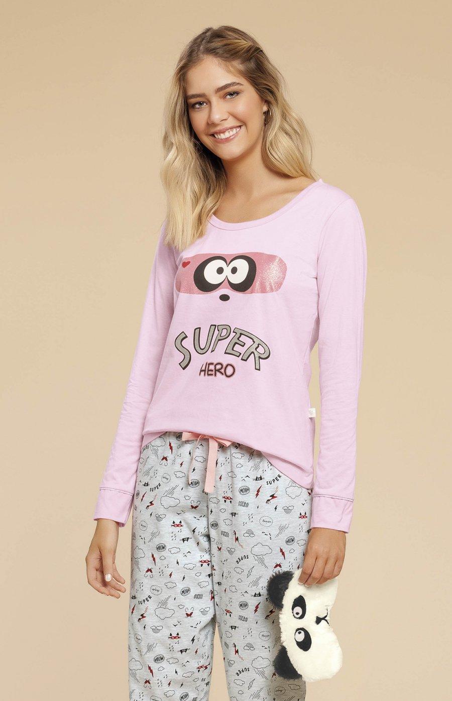 Pijama Meia Malha Super Family Inverno 2019 CLOUD CLUB