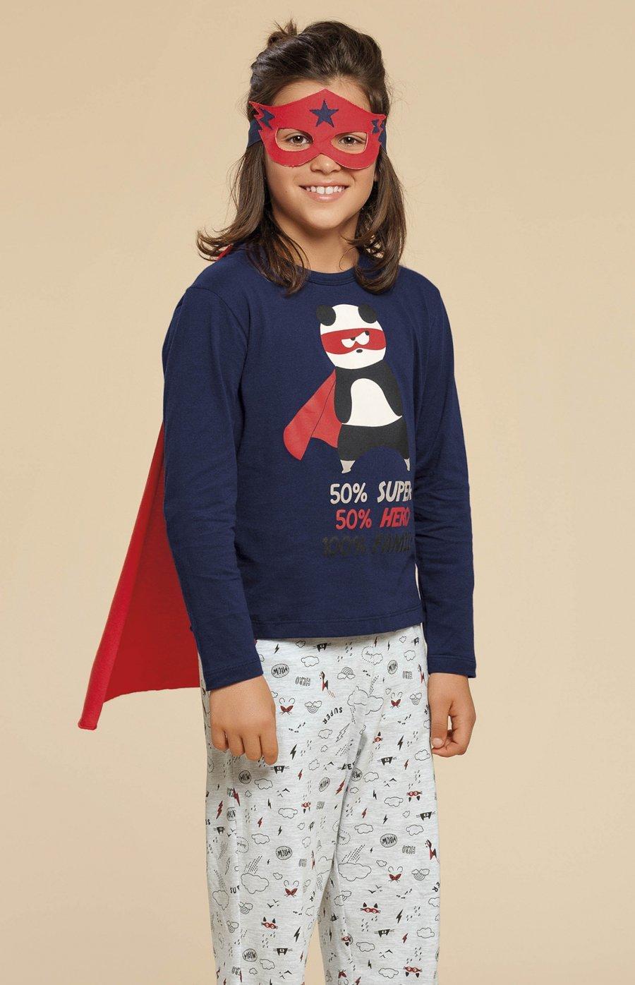 Pijama Infantil Meia Malha Super Family Inverno 2019 CLOUD CLUB - Acompanha Capa Removível e Máscara