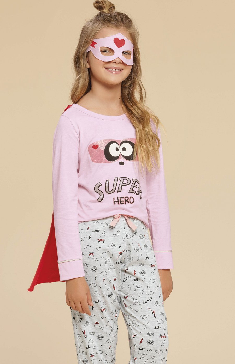 LIQUIDA Pijama Infantil Meia Malha Super Family Inverno
