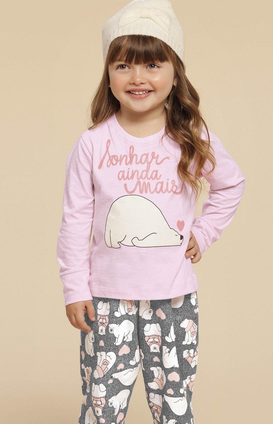 LIQUIDA Pijama Baby 100% Algodão Urso Fofolete Inverno