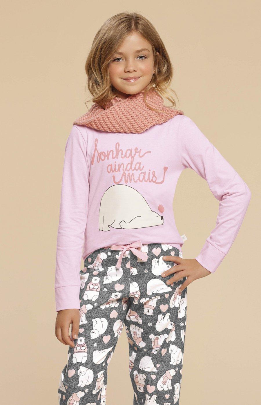 Pijama Infantil 100% Algodão Urso Fofolete Inverno 2019 CLOUD CLUB