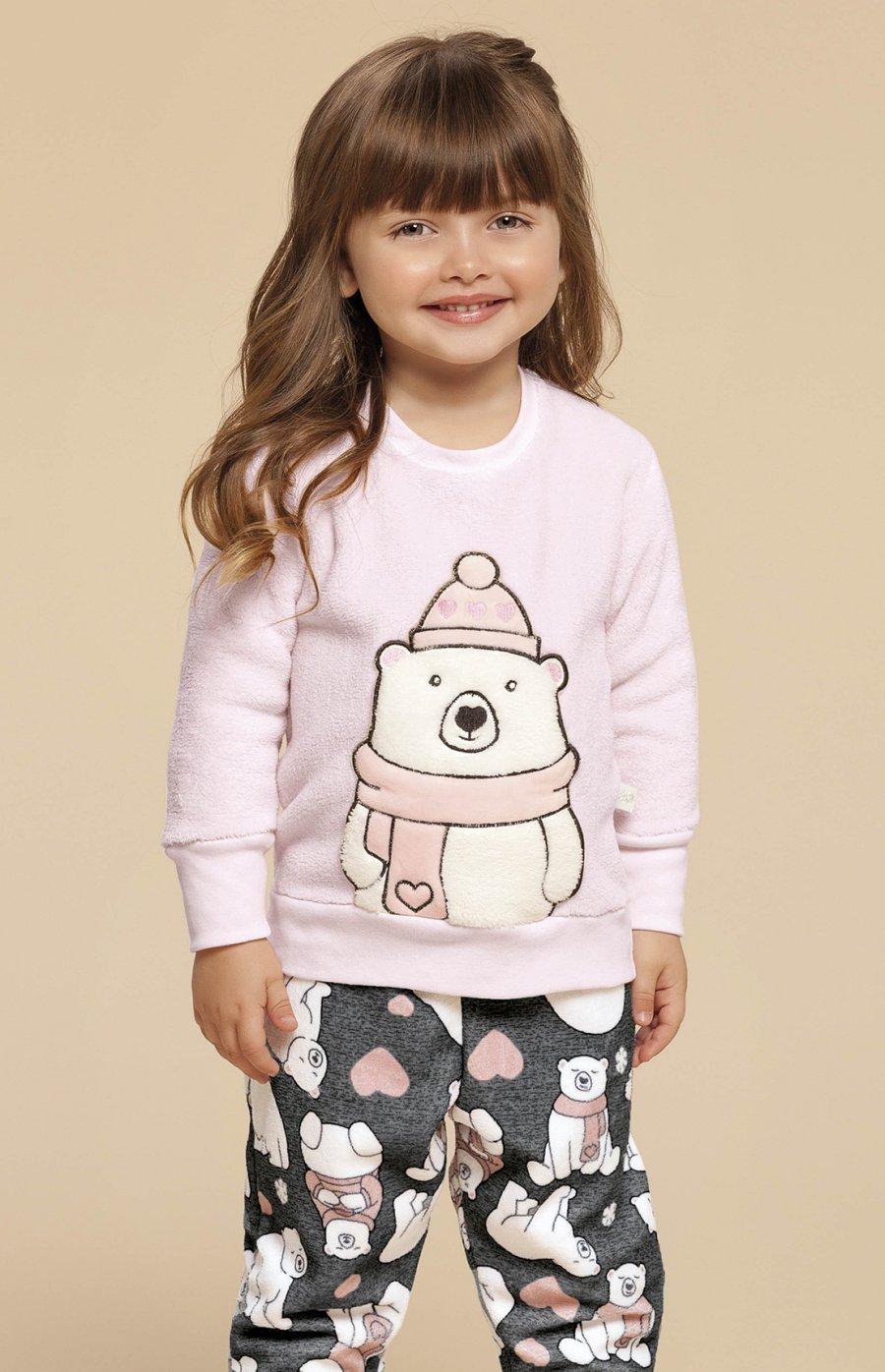 LIQUIDA Pijama Baby Soft Urso Fofolete Inverno