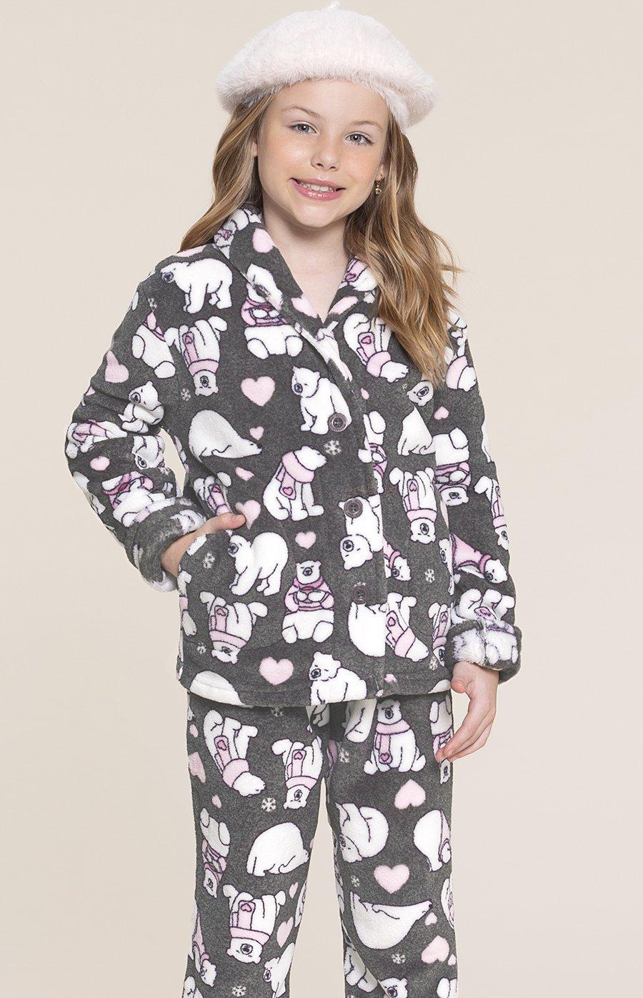 LIQUIDA Pijama Infantil Soft Urso Fofolete Inverno