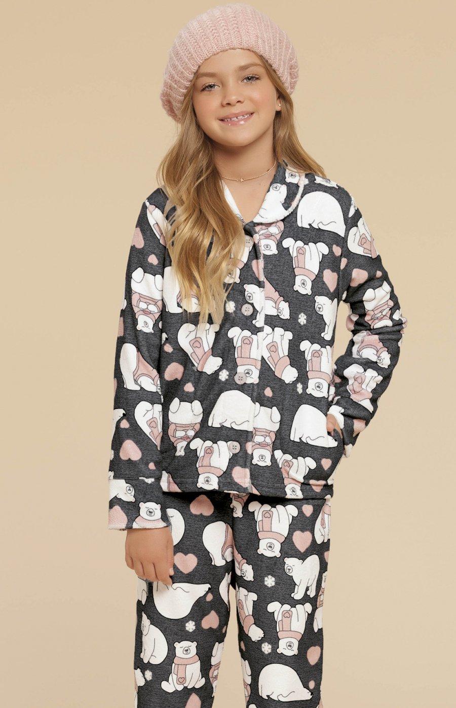 Pijama Infantil Soft Urso Fofolete Inverno 2019 PROMO