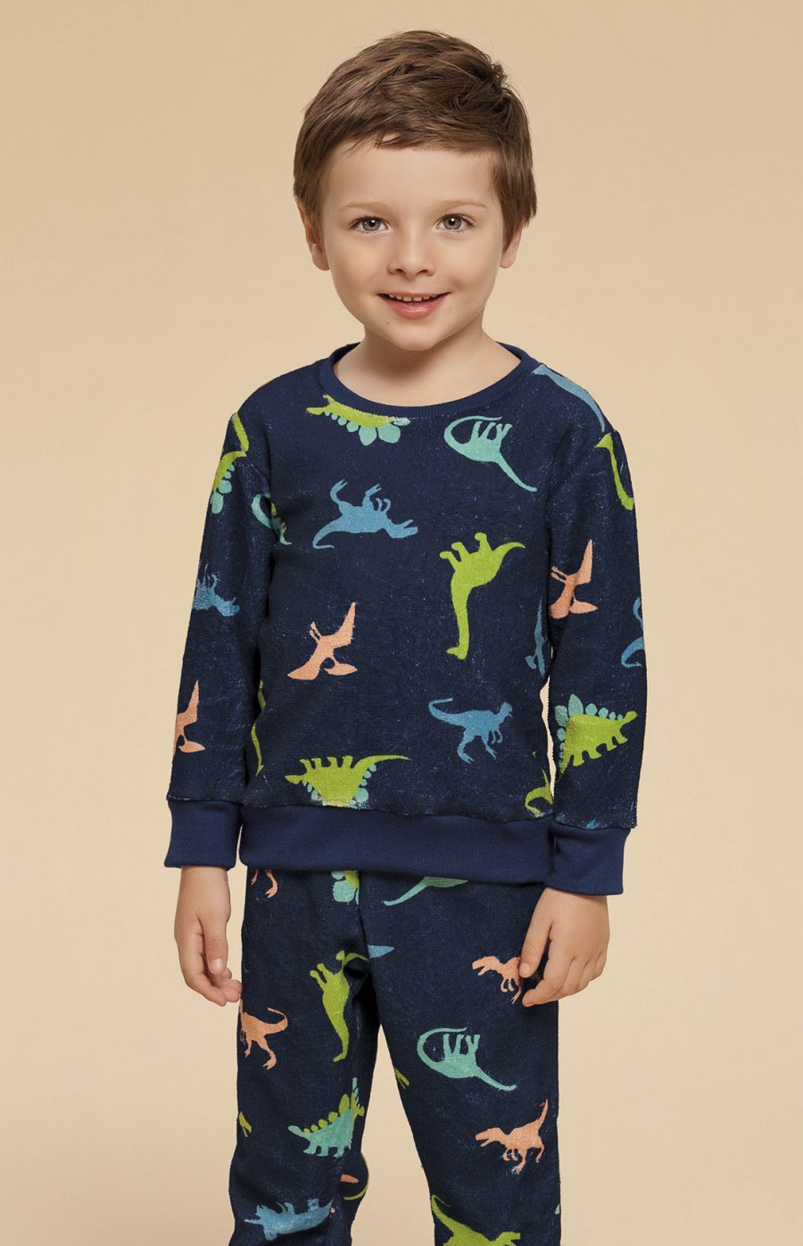 Pijama Baby Soft Dino Inverno 2019 CLOUD CLUB