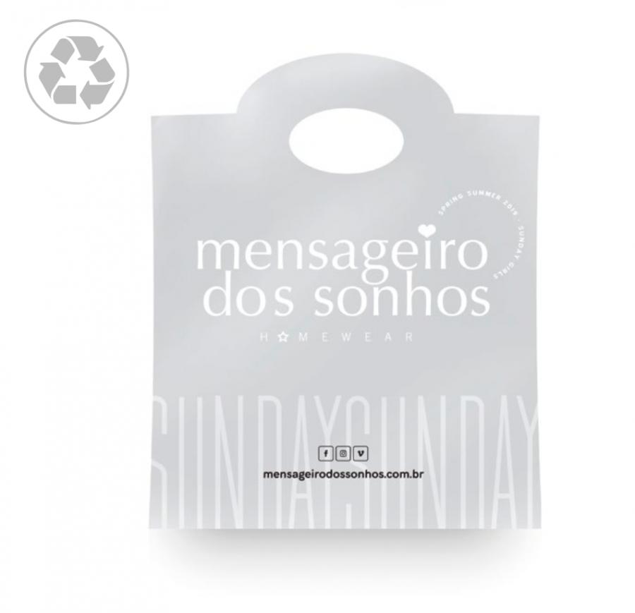 Kit Sacola Plástica com 100 Unidades Mensageiro dos Sonhos