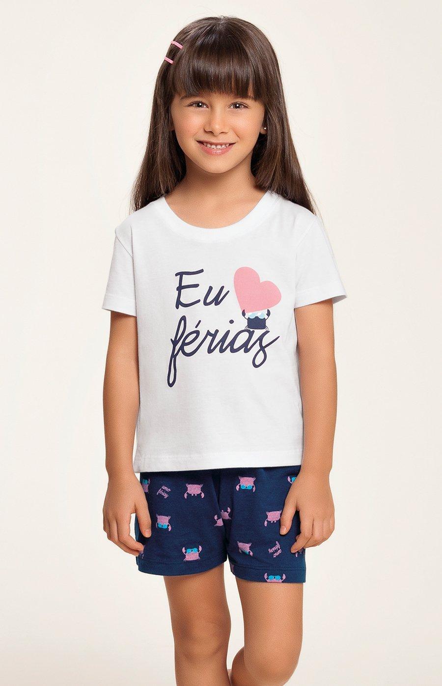 LIQUIDA Short Doll Baby 100% Algodão Amo Férias Verão 2020 MIAMI DREAMS