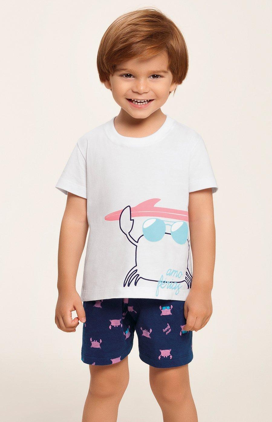 Pijama Baby 100% Algodão Amo Férias Verão 2020 MIAMI DREAMS