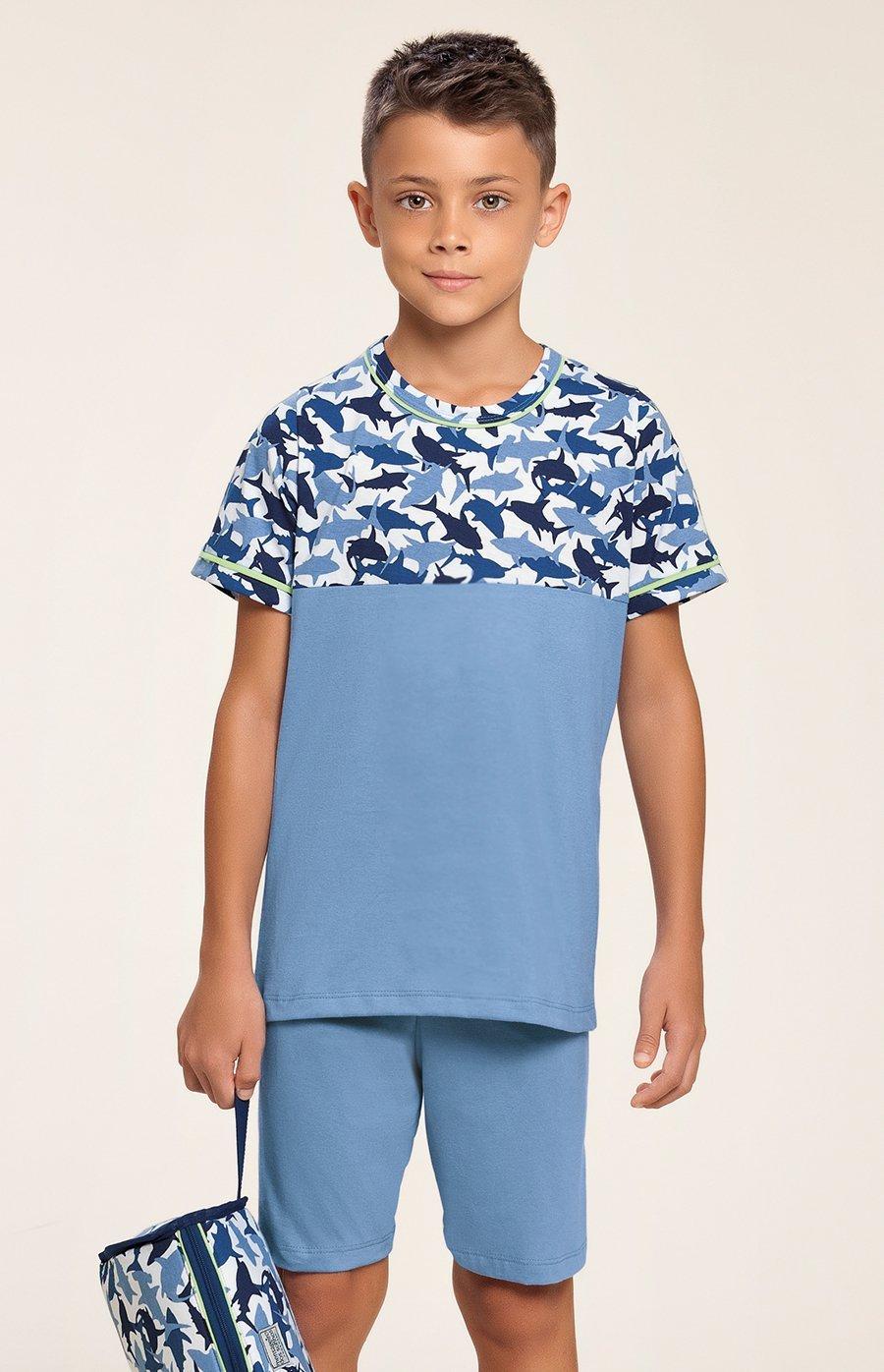 Pijama Infantil 100% Algodão Tubarão Verão 2020 MIAMI DREAMS