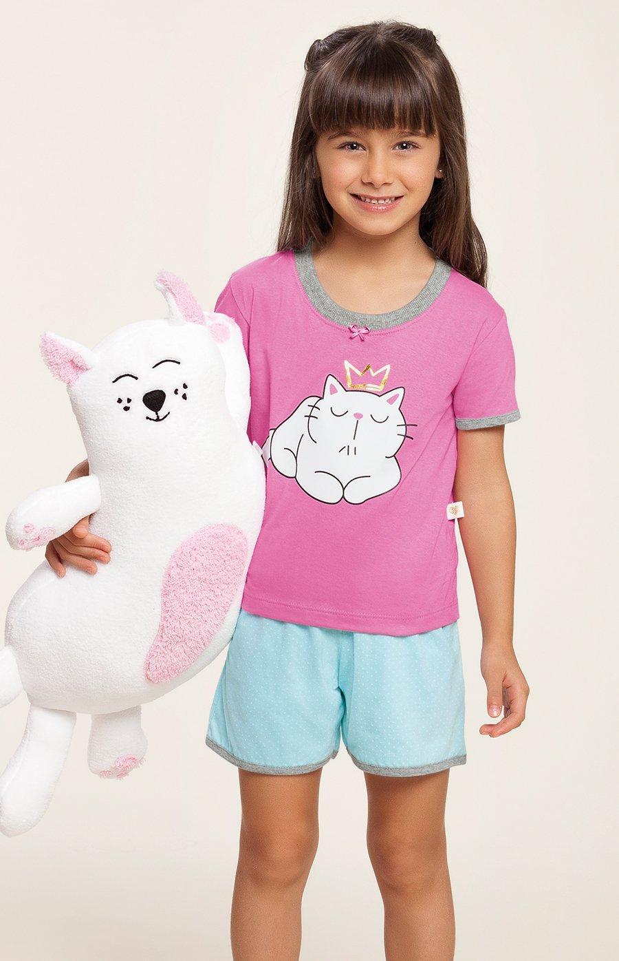 Pijama Baby 100% Algodão Meow Verão 2020 MIAMI DREAMS