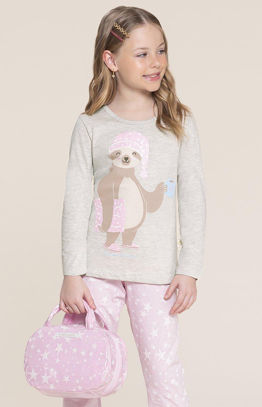 Pijama Infantil 1/2 Malha Preguicinha Inverno 2020 SWEET STORIES