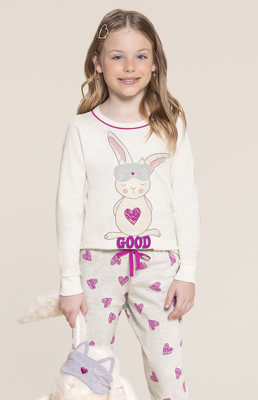 Pijama Infantil 1/2 Malha Good Night Inverno 2020 SWEET STORIES