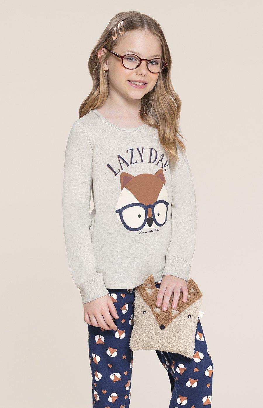 Pijama Infantil 1/2 Malha Fox Inverno 2020 SWEET STORIES