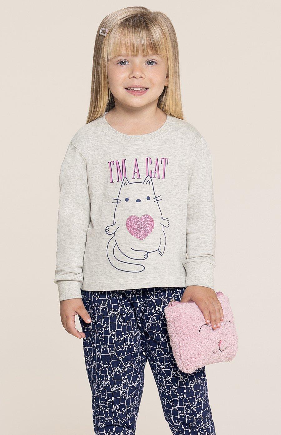 Pijama Baby 1/2 Malha Cats Inverno 2020 SWEET STORIES