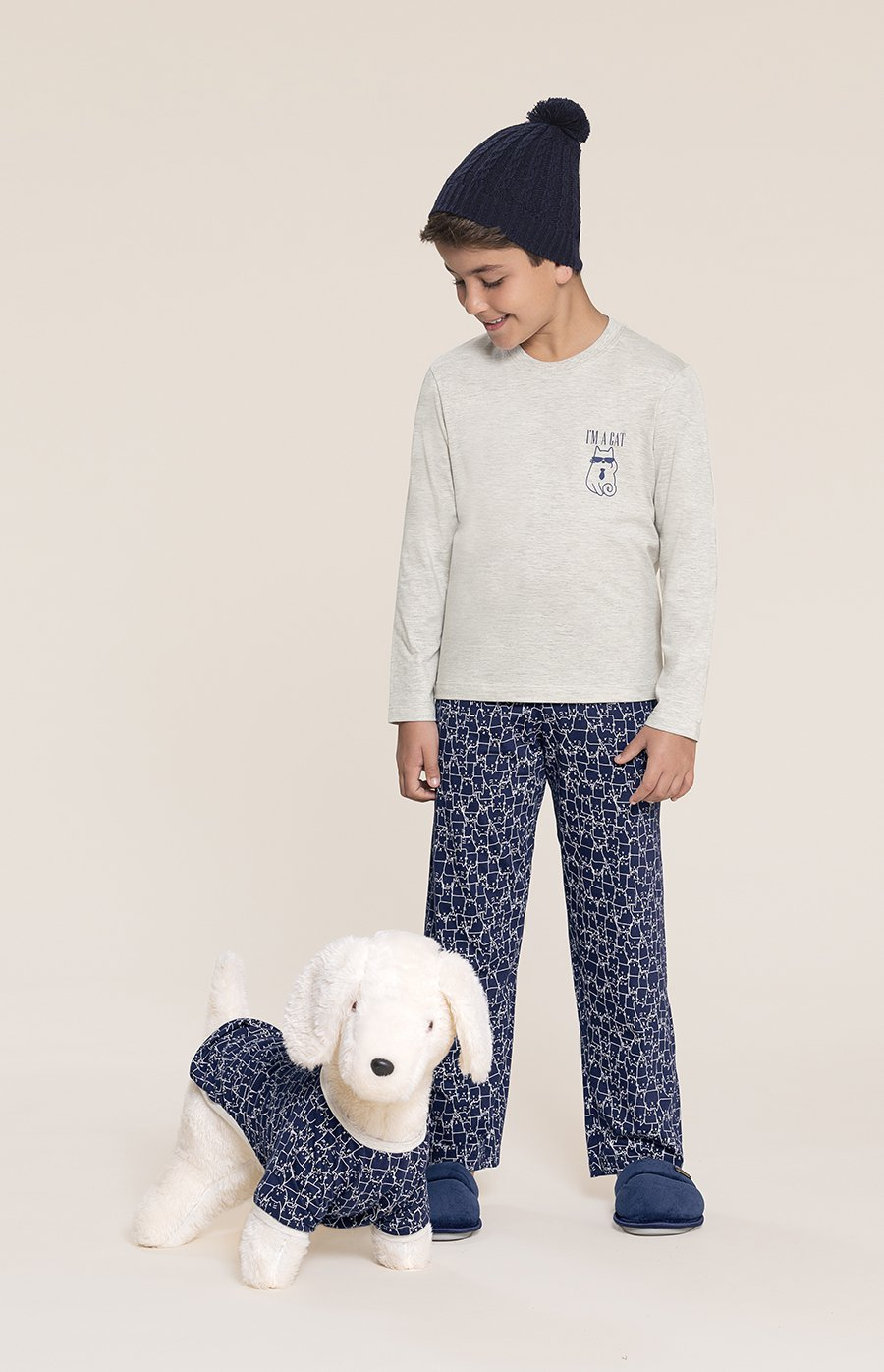 Pijama Pet Cats Inverno 2020 SWEET STORIES