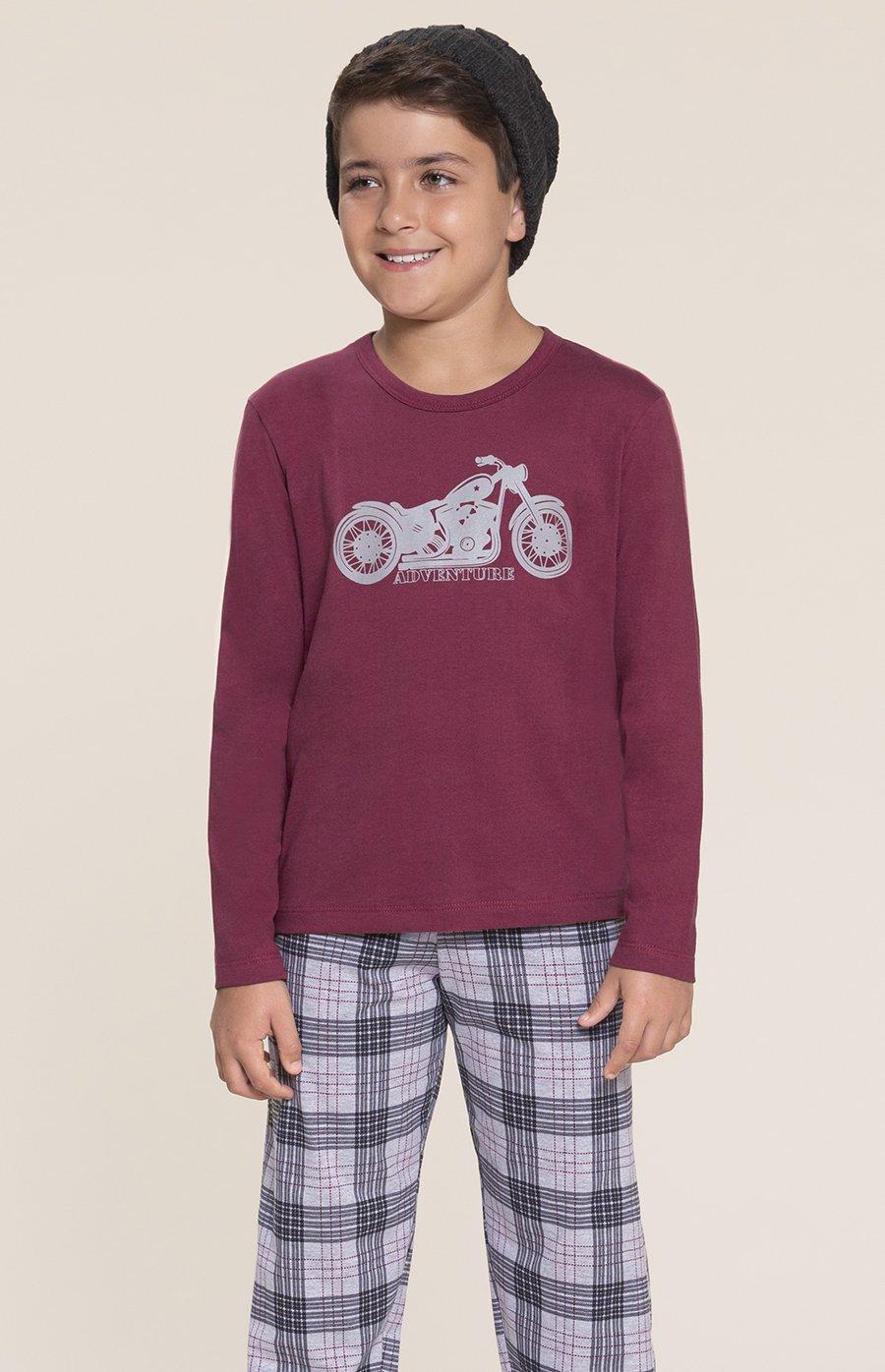 Pijama Infantil 1/2 Malha Aventura Inverno 2020 SWEET STORIES