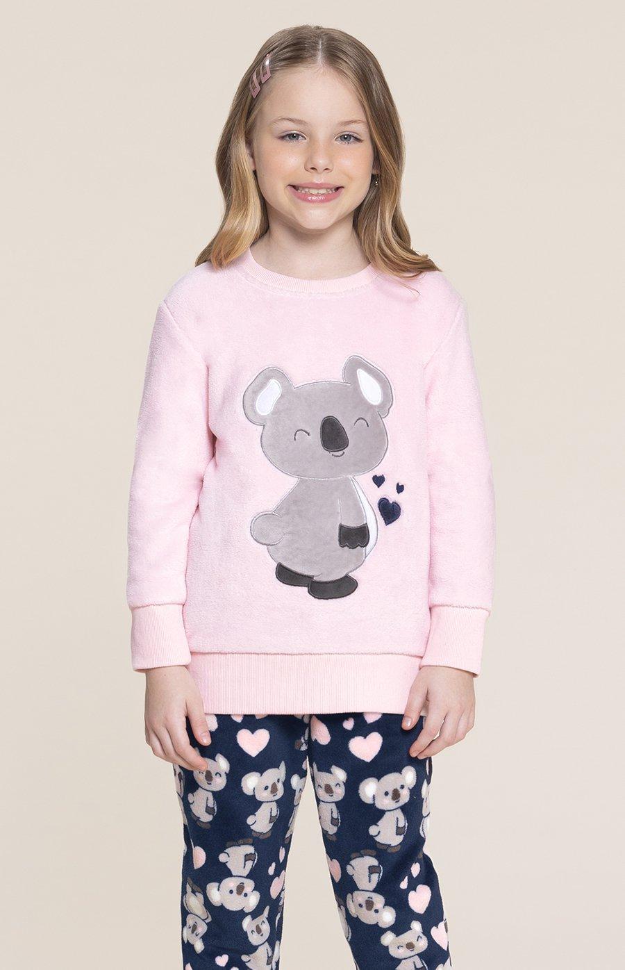 Pijama Infantil Soft Coala Amoreco Inverno 2020 SWEET STORIES
