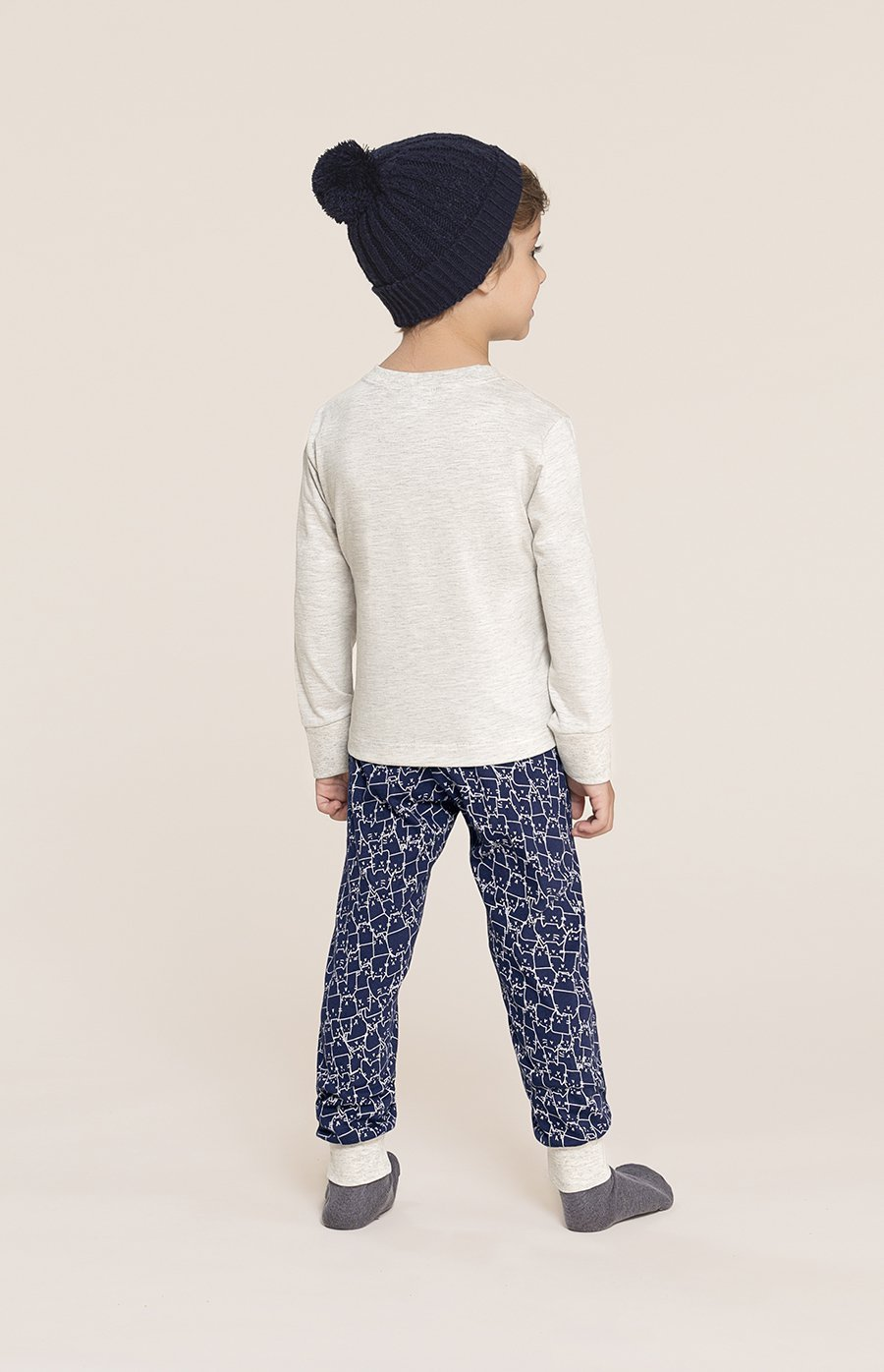 PROMO INVERNO OUTLET Pijama Baby 1/2 Malha Cats MDS