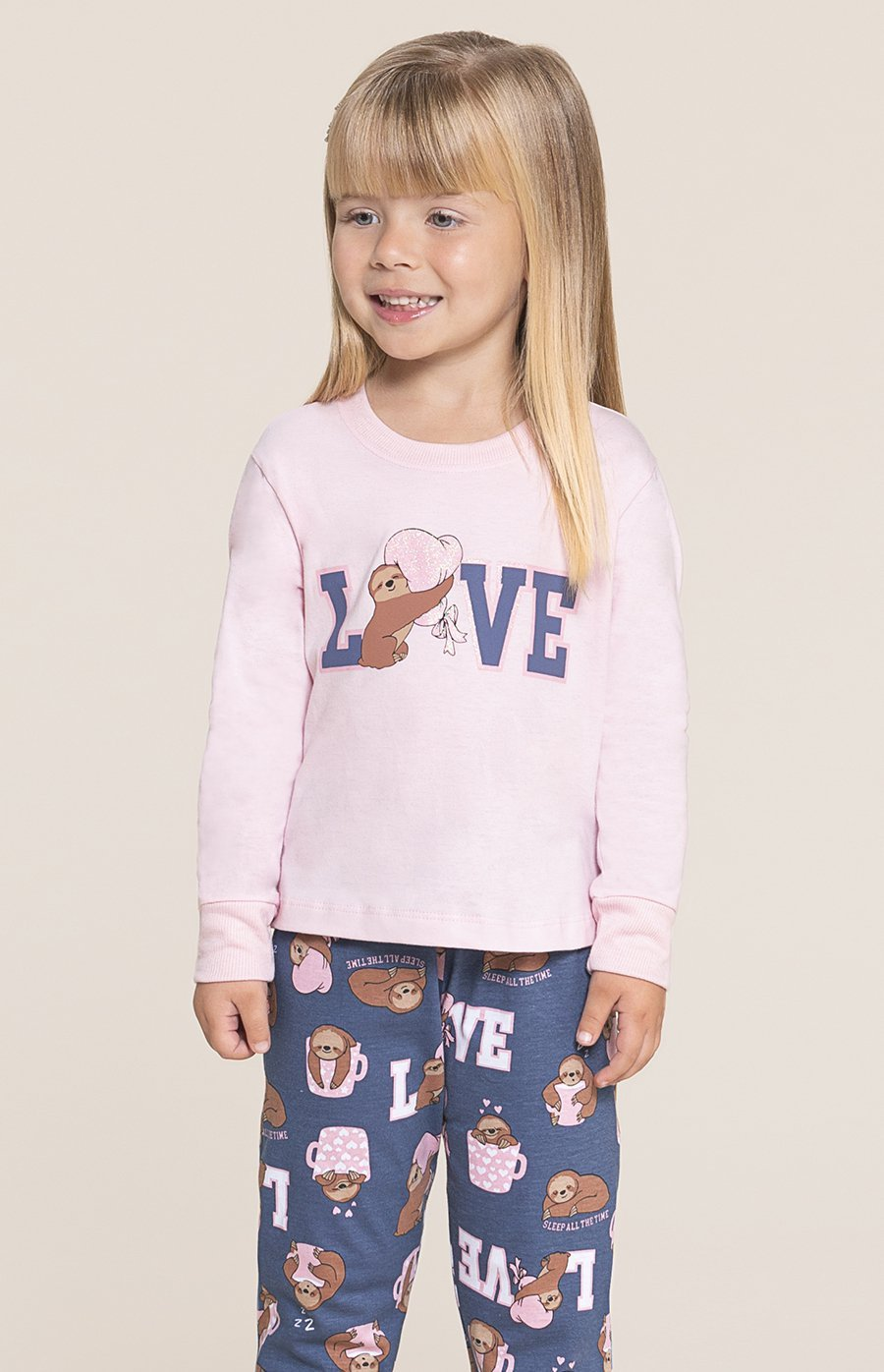 PROMO INVERNO OUTLET Pijama Baby 1/2 Malha MDS
