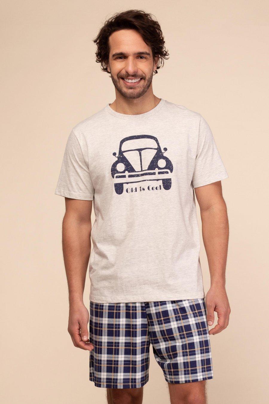 Pijama 1/2 Malha Fusca Happy Moments Verão 2021