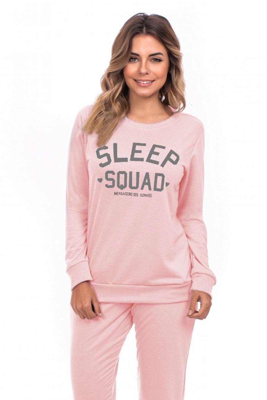 Pijama Moletinho Sem Felpa Lounge Inverno MDS