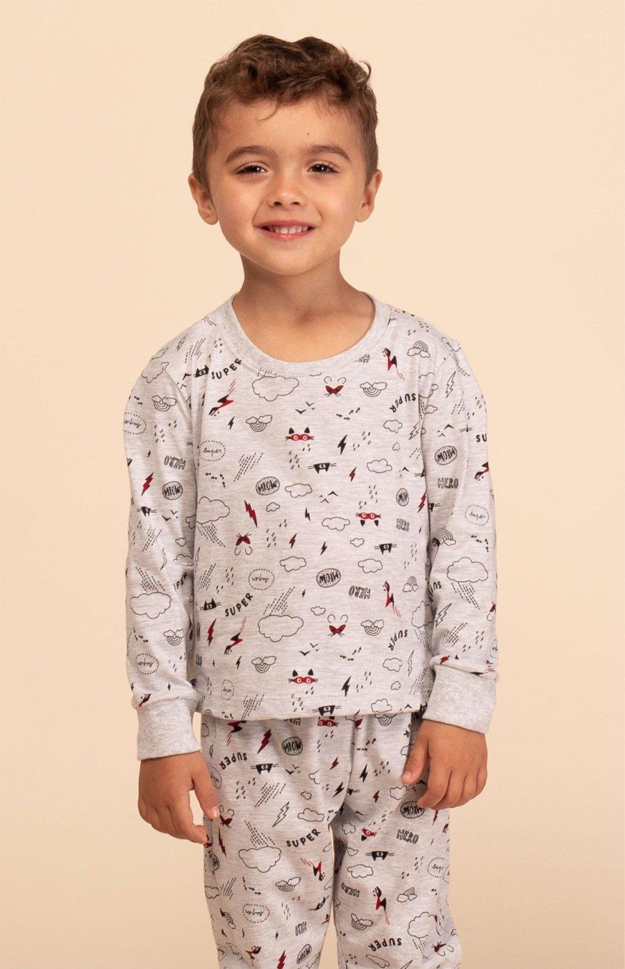 Pijama Baby Meia Malha Inverno MDS
