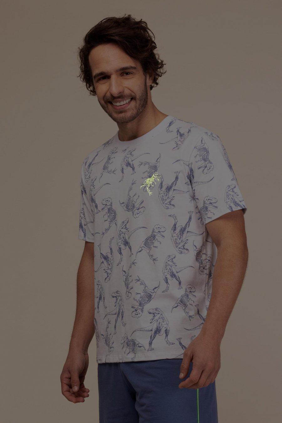 Pijama 100% Algodão Dinossauro Happy Moments Verão
