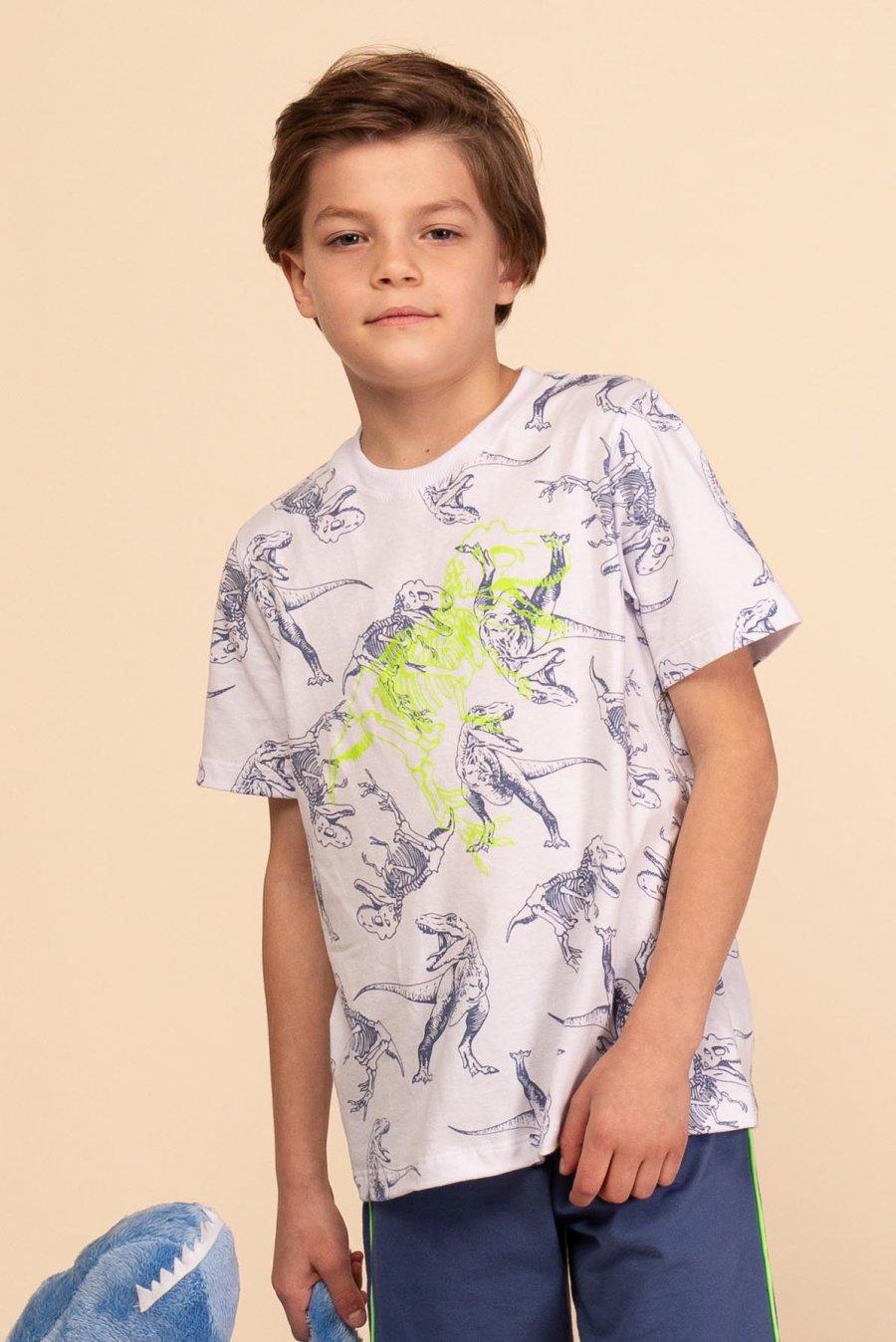 Pijama Infantil 100% Algodão Dinossauro Happy Moments Verão