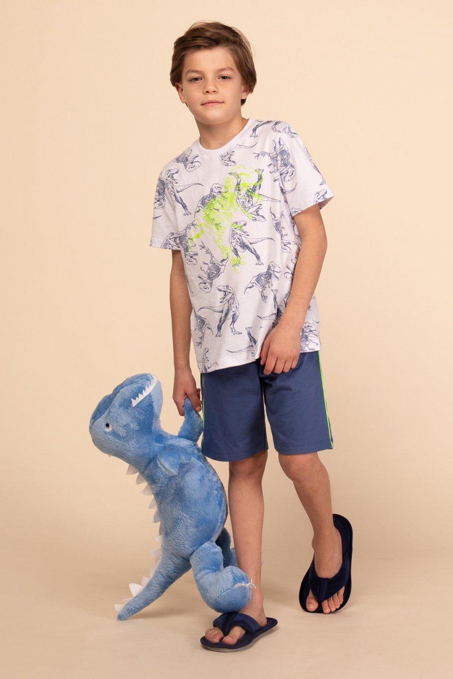 Pijama Infantil 100% Algodão Dinossauro Happy Moments Verão 2021