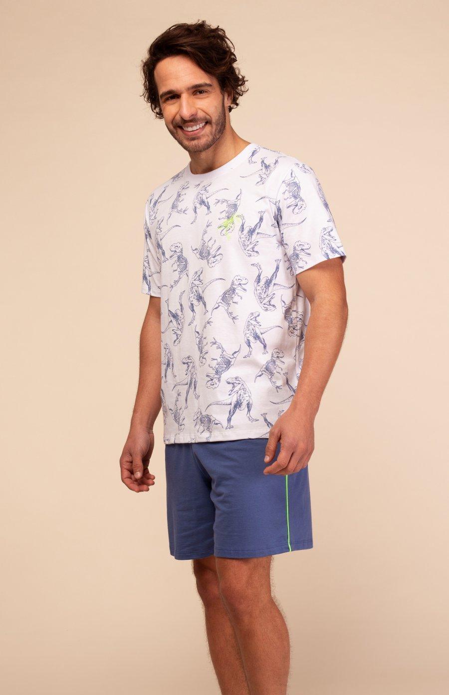 Pijama Teen 100% Algodão Dinossauro Happy Moments Verão
