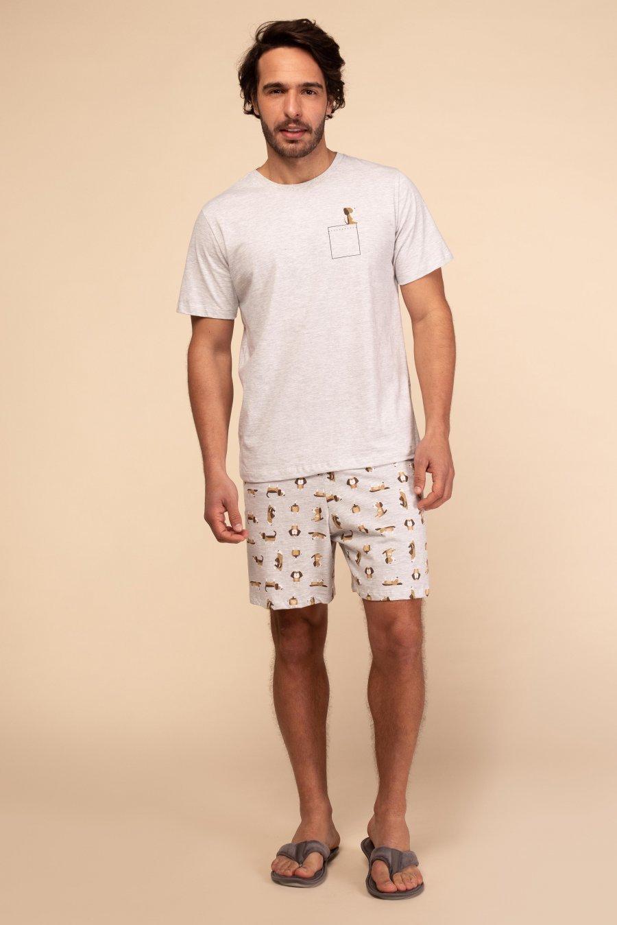Pijama 1/2 Malha Dog Happy Moments Verão 2021