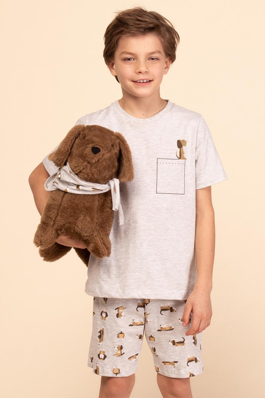 Pijama Infantil 1/2 Malha Dog Happy Moments Verão 2021