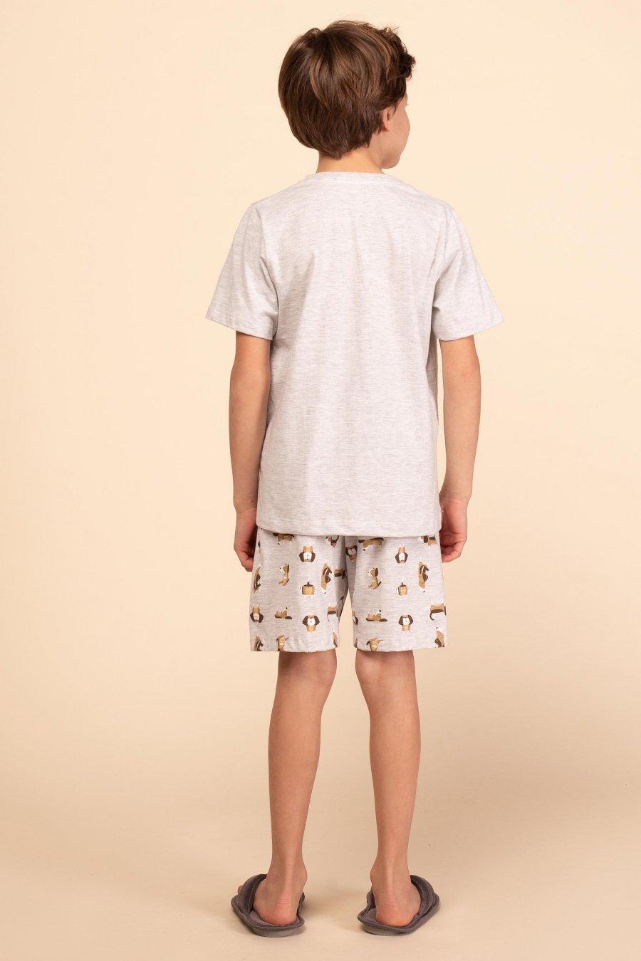 PROMO Pijama Infantil 1/2 Malha Dog Verão MDS