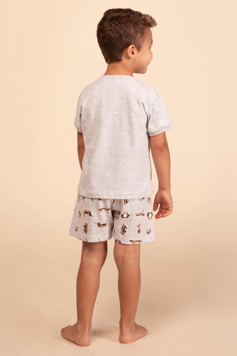 Pijama Baby 1/2 Malha Dog Happy Moments Verão 2021
