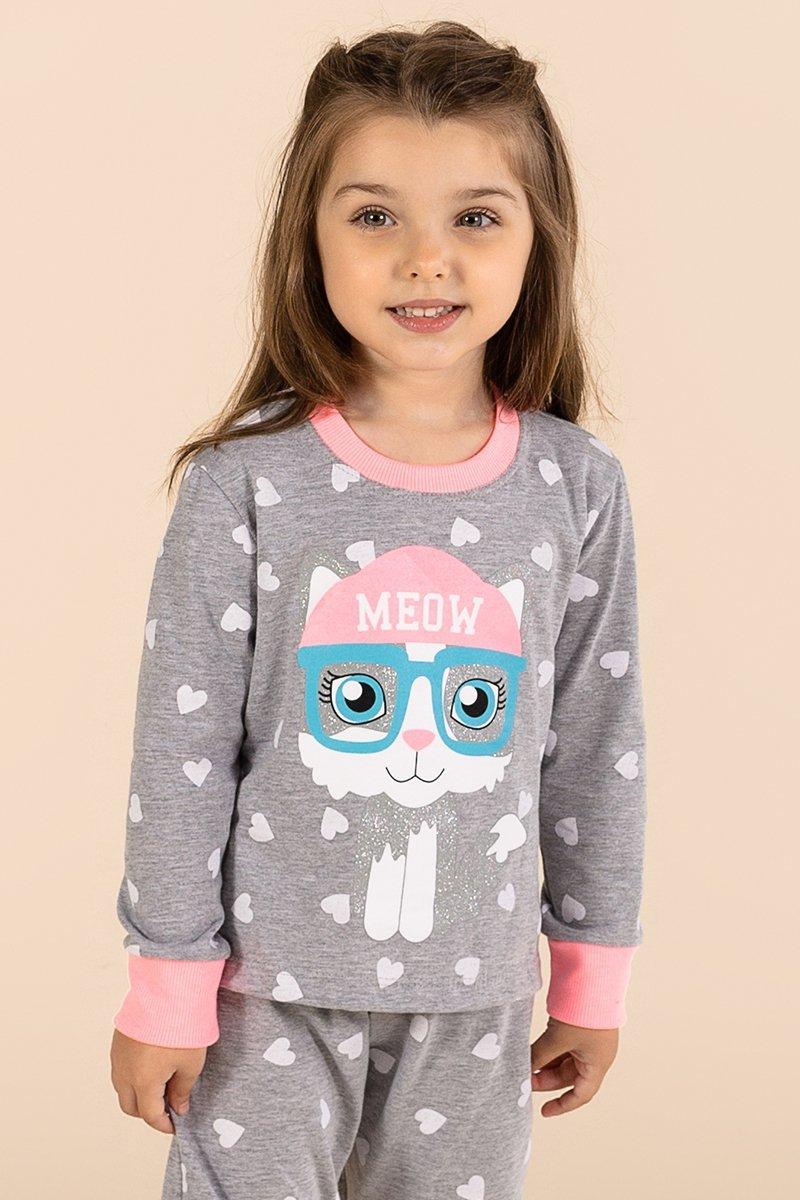 LANÇAMENTO Pijama Infantil 1/2 Malha Gatinha A Princesa Moderna Inverno 21 MDS