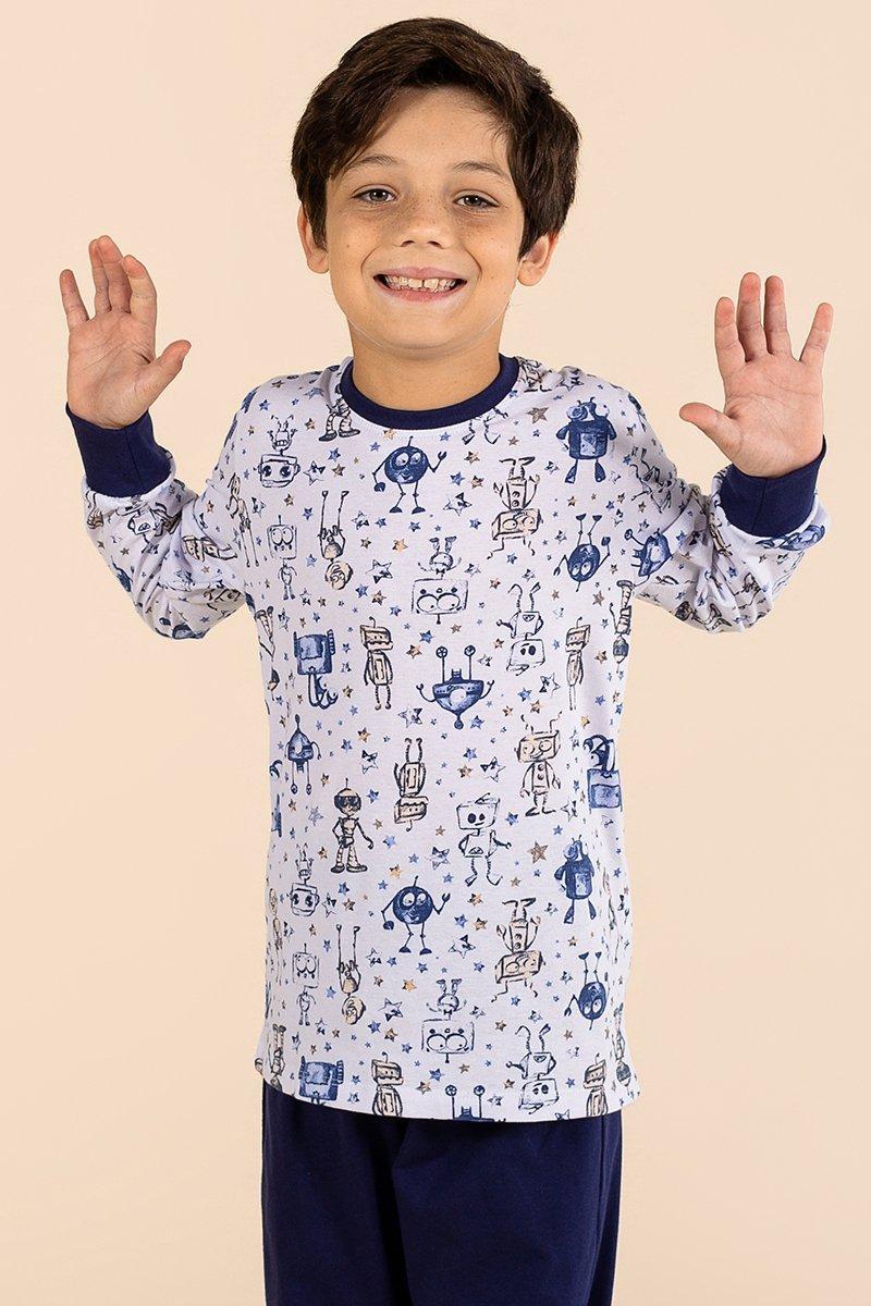 Pijama Infantil 100% Algodão Boy A Princesa Moderna Inverno MDS