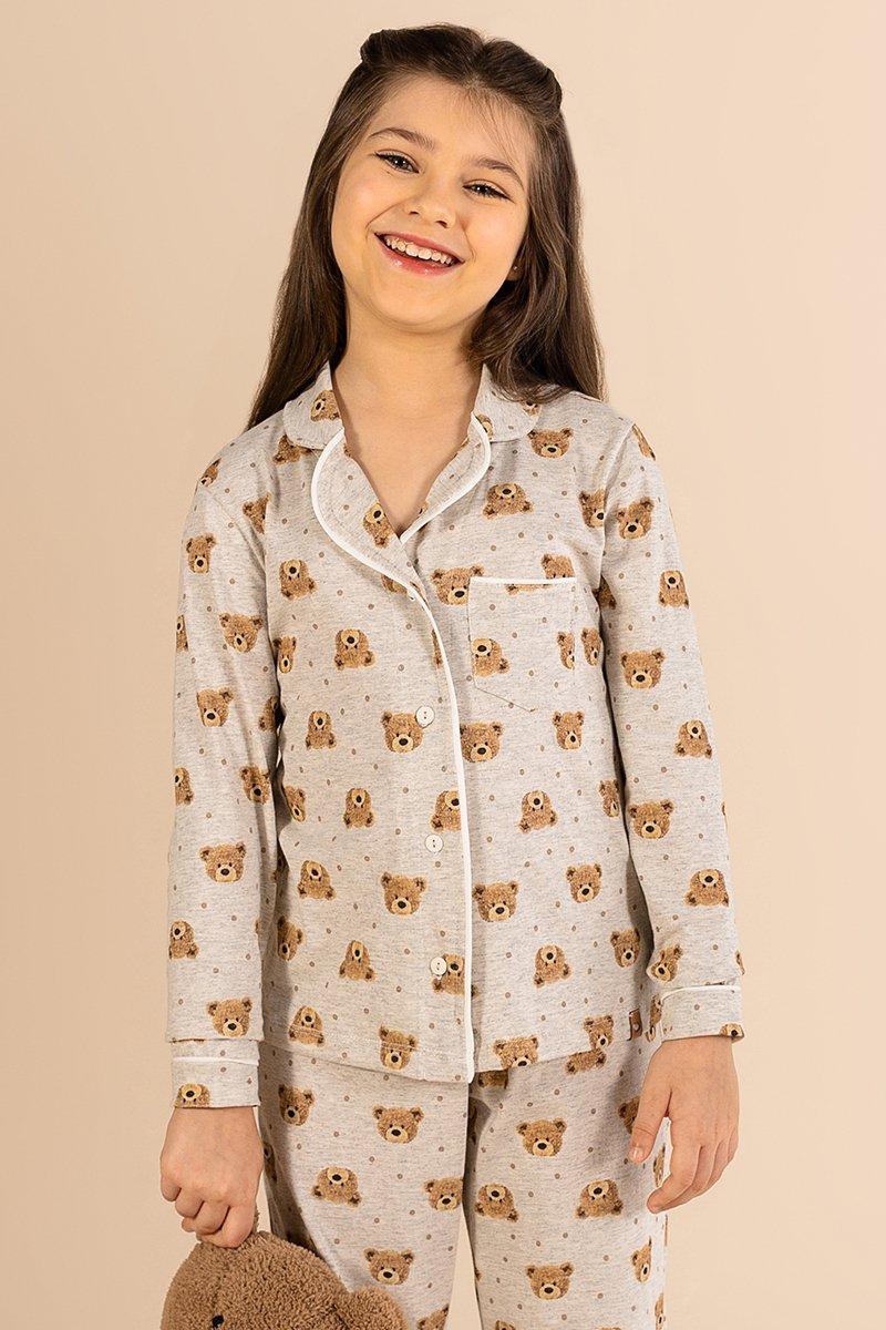 LANÇAMENTO Pijama Infantil 1/2 Malha Teddy Bear A Princesa Moderna Inverno 21 MDS