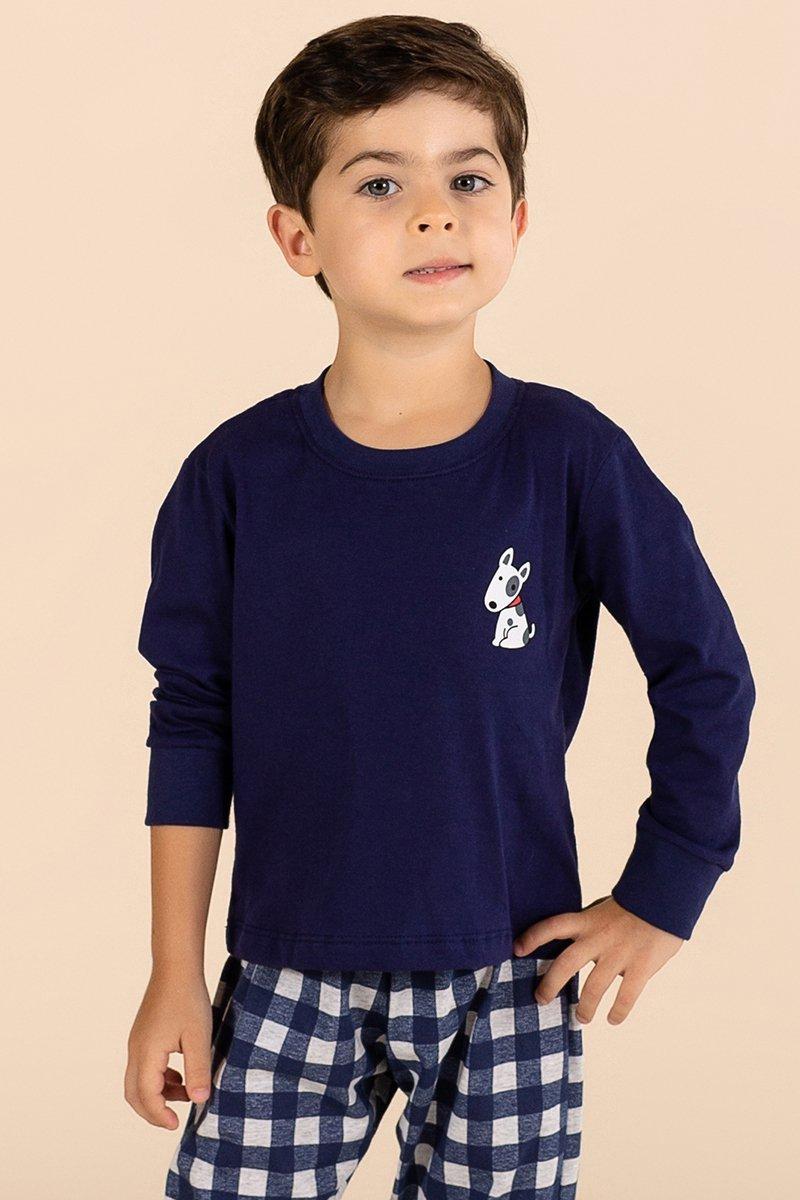 Pijama Infantil 1/2 Malha Happy Family A Princesa Moderna Inverno MDS